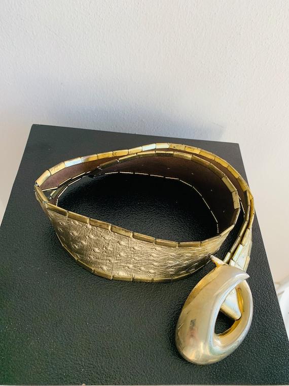 Sophia Women's Belt Gold metal/genuine leather be… - image 7