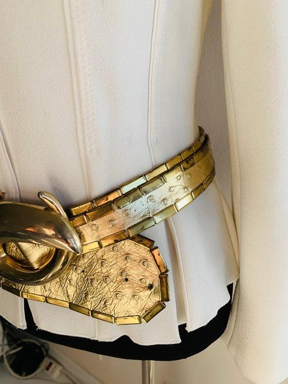 Sophia Women's Belt Gold metal/genuine leather be… - image 5