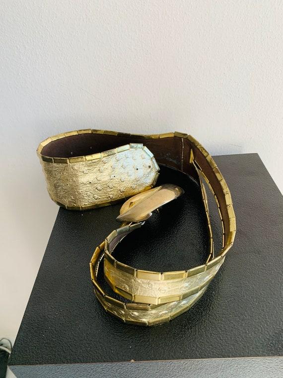 Sophia Women's Belt Gold metal/genuine leather be… - image 10