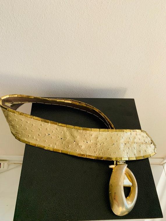 Sophia Women's Belt Gold metal/genuine leather be… - image 8