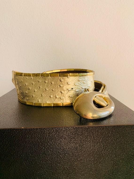 Sophia Women's Belt Gold metal/genuine leather be… - image 6
