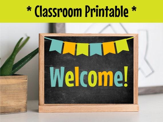 Teacher welcome, Vipkid Background, Gogokid backdrop, Classroom Decor,  Qkids props, Magic Ears Printable, classroom welcome sign