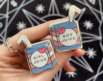 Trans Juice Hard Enamel Pins
