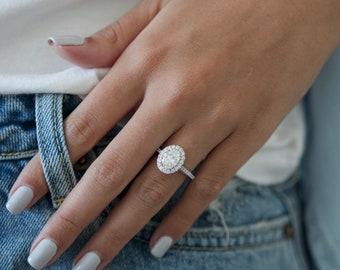2 Carat Diamond Engagement Ring Etsy