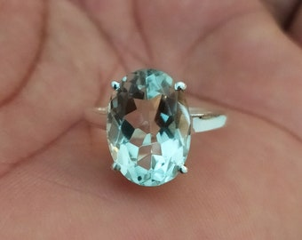 rose gold filled birthstone jewelry  natural green amethyst ring light green prasiolite gemstone 925 sterling silver ring  yellow gold