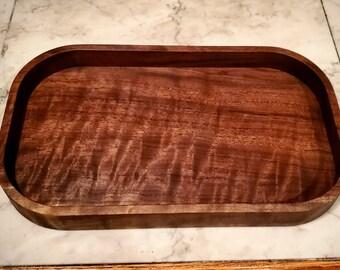 walnut catch all tray