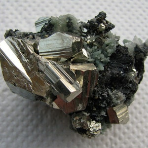 Bulgaria Aesthetic combination of  galena sphalerite pyrite and quartz from the famous 9th of September mine Mineral Top condition