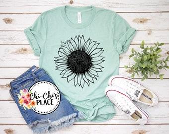 Sunflower Sublimation T-Shirt