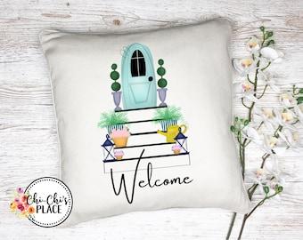 Spring Door/Porch Custom Pillow Cover