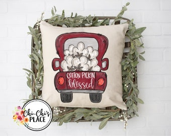 Cotton Pickin' Blessed Pillow Cover