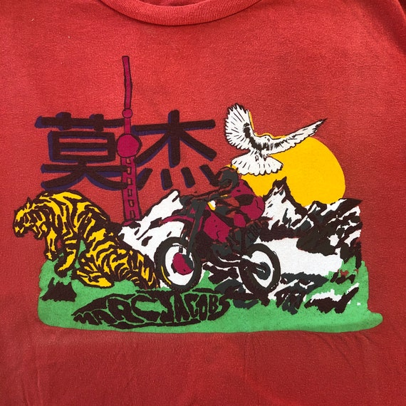 Vintage MARC JACOBS Red Japanese Graphic T Shirt,