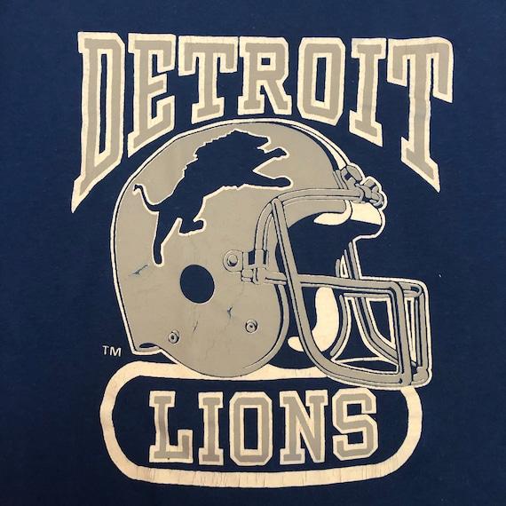 Vintage DETROIT LIONS Sports Football T Shirt, Lar
