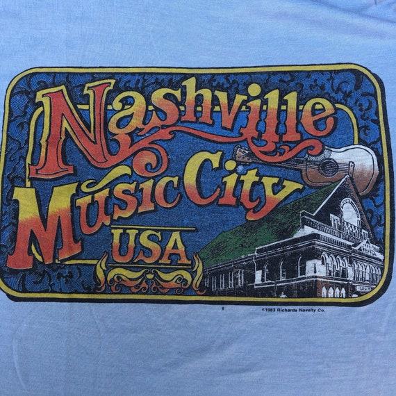 Vintage NASHVILLE Music City Baby Blue Large Rock