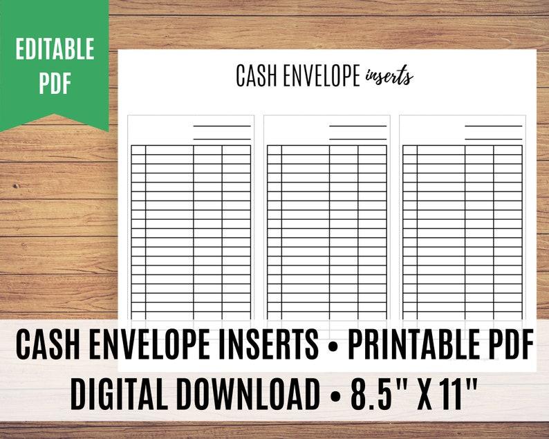 Cash Envelope Inserts Dave Ramsey Cash Envelope Tracker Cash image 0
