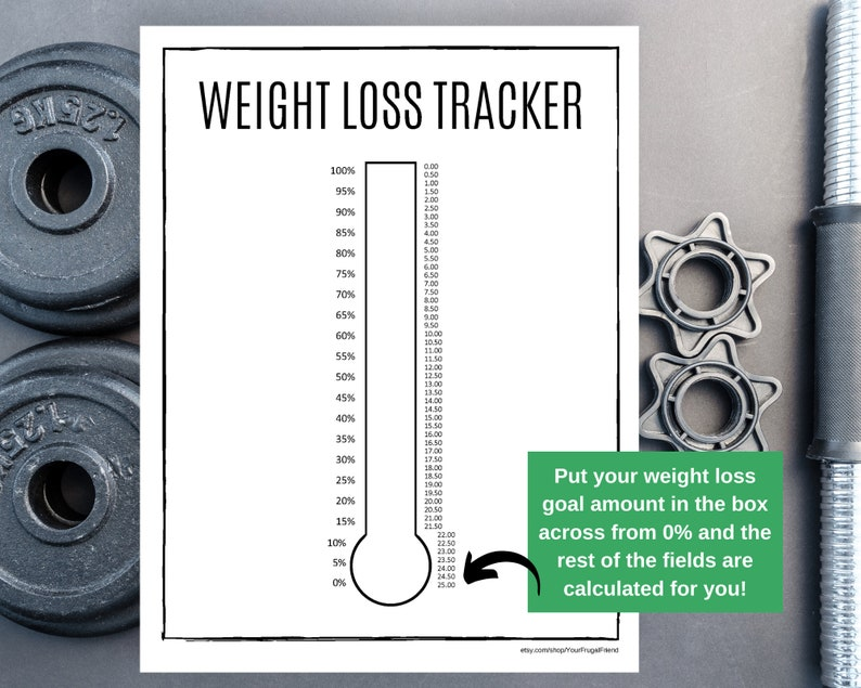 Weight Loss Tracker Printable Weight Loss Chart Personal ...