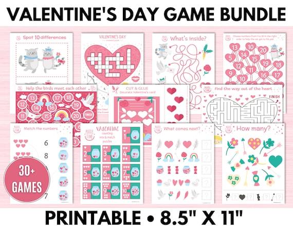 Valentine's Day Games for Kids Bundle Valentine's Day