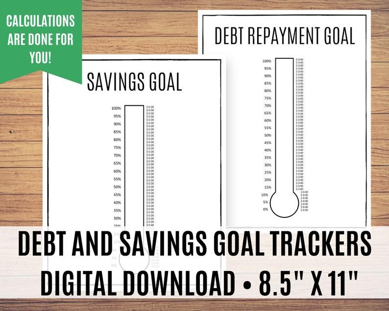 Savings Challenge and Debt Tracker Bundle Money Challenge image 0