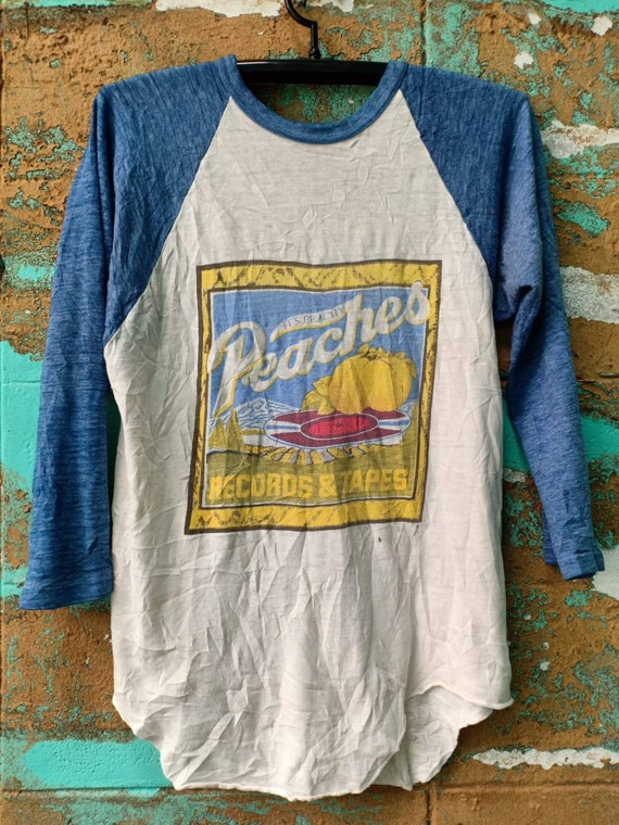 Peaches Records & Tapes 70's Vintage tshirt