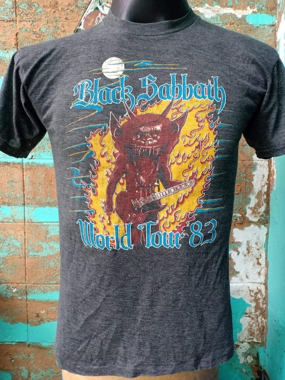 Black Sabbath Wold Tour 1983 Vintage tshirt