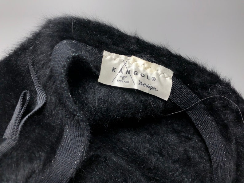 Rare Vintage Kangol Hat Ladies Womens Black 80s 90s
