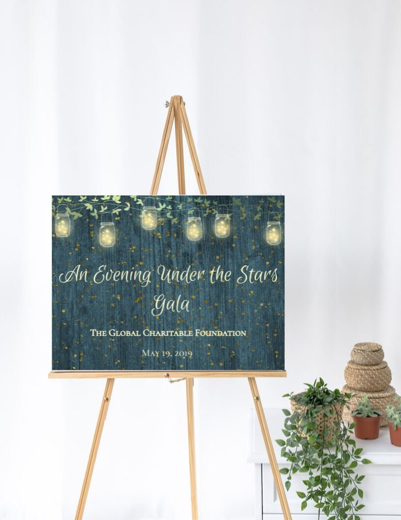 Editable Display your Special Event on a  24 x 18 or 36 x 24 Sign Digital Ready to download