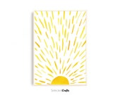 Sunshine Watercolor Art Print for Instant Digital Download | Scandinavian Decor | Wall Art | Home Decor | Watercolor | Poster | Bohemian |