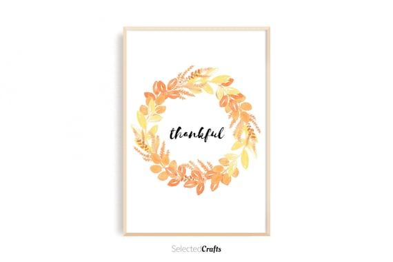Fall Wreath Watercolor Art Print | Handmade Fall & Autumn Poster | Hand Painted Aquarell | Printable | Digital Download | JPG and PDF