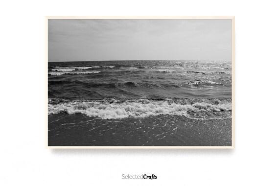 Ocean Photo Art Print | Scandinavian Decor | Minimal Decor Printable | Poster | Digital Download | Wall Art | Bathroom Art | Nordic Spa |