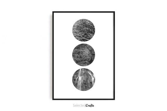 Abstract Nature Circle Art Print | Scandinavian Decor | Minimal Decor Printable | Print | Digital Download | Wall Art | Bedroom Art |