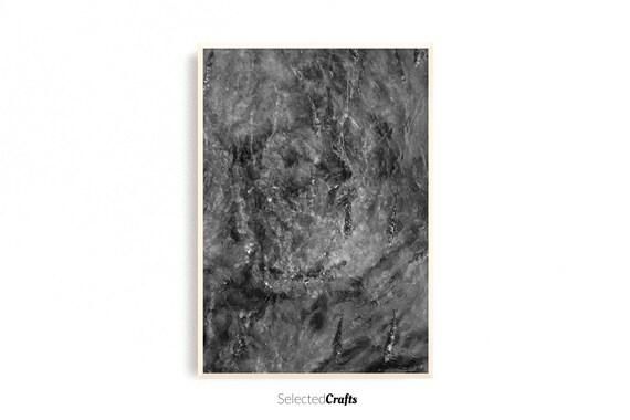 Abstract Grey River Art Print | Algae Poster | Scandinavian Decor | Minimal Decor Printable | Print | Digital Download | Wall Art | Spa |