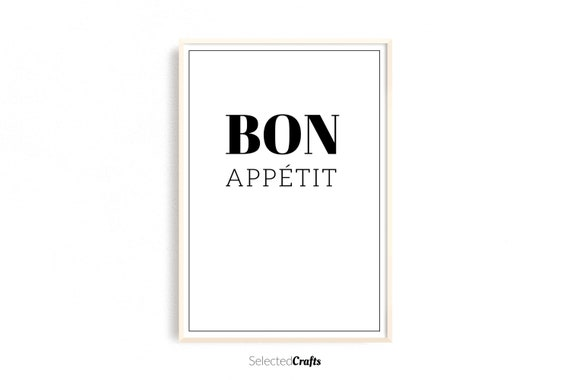 Bon Appétit Kitchen Art Print, A Instant Downloadable Digital File | Cooking Printable | Kitchen Wall Art | Kitchen Print | Food Poster |
