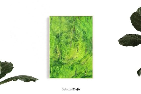 Abstract Green River Art Print | Algae Poster | Scandinavian Decor | Minimal Decor Printable | Print | Digital Download | Wall Art | Spa |