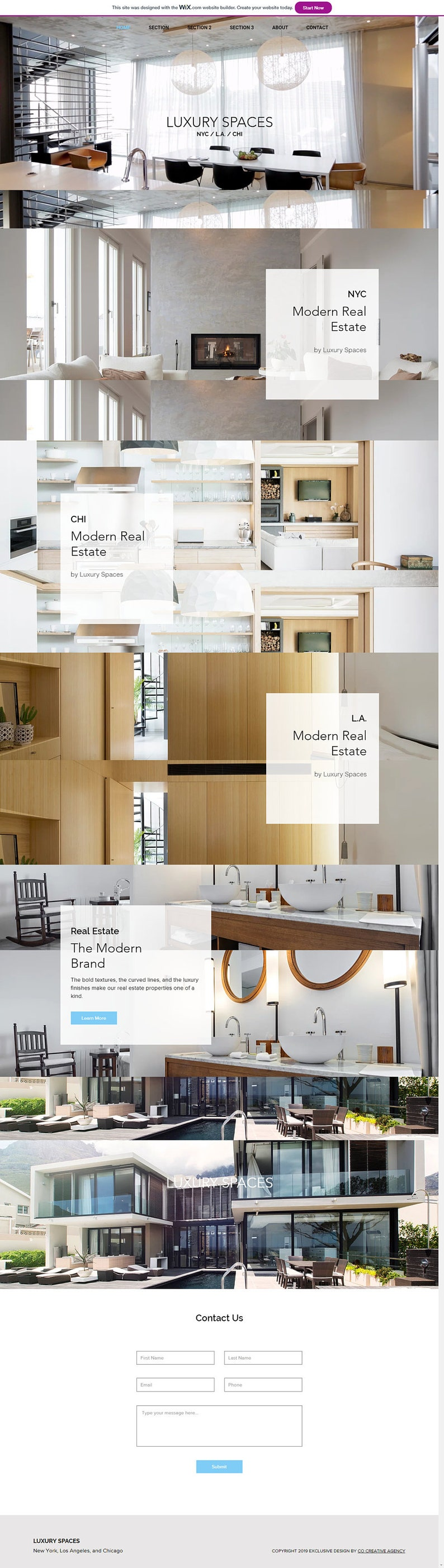 WIX Website Template for Luxury Real Estate, Photography, Portfolio – Wix  Web Design