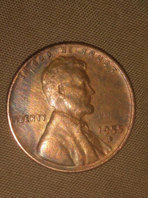 1955 Wheat Penny Error Etsy