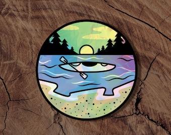 Holographic Kayak Sticker