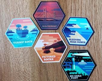 Michigan Destinations Sticker Pack