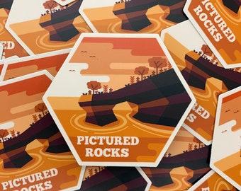 Pictured Rocks Sticker