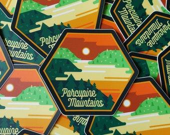 Porcupine Mountains Sticker