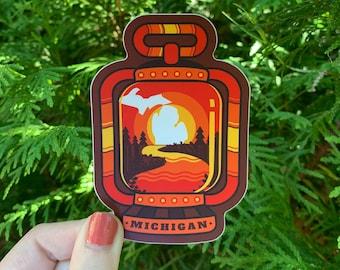 Michigan Lantern Sticker