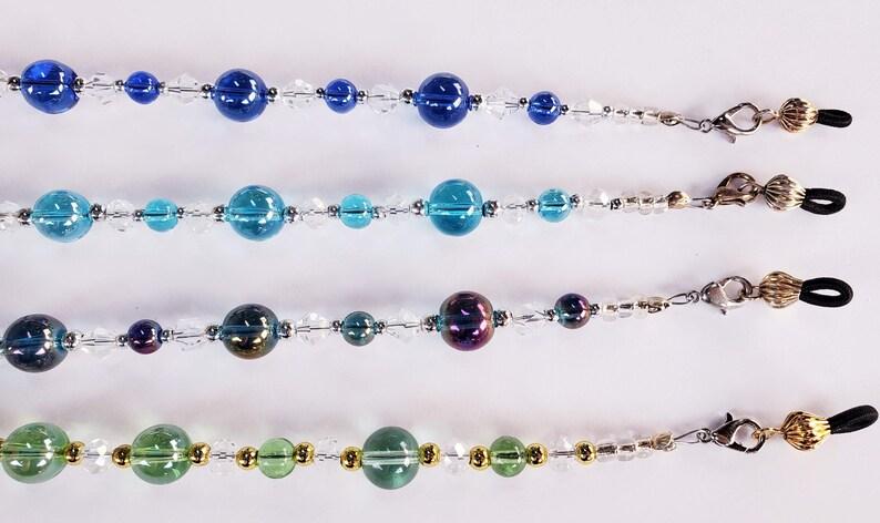 Splash of Color Eyeglass ChainsMask LeashHandmade