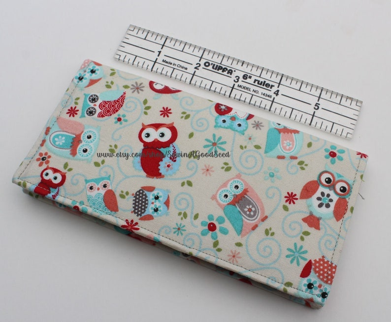 Fabric Checkbook Cover Floral Check book cover Gray Floral Checkbook Cover Cash Check Coupon Holder Fall Color Checkbook Holder