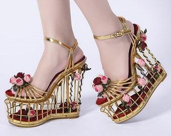 027f452ce3d Floral wedding shoes | Etsy