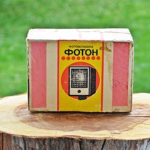 Soviet electronics Vintage Soviet Camera Flash Light Foton Retro Photograohy Tool Made in USSR 80s Soviet photo flash