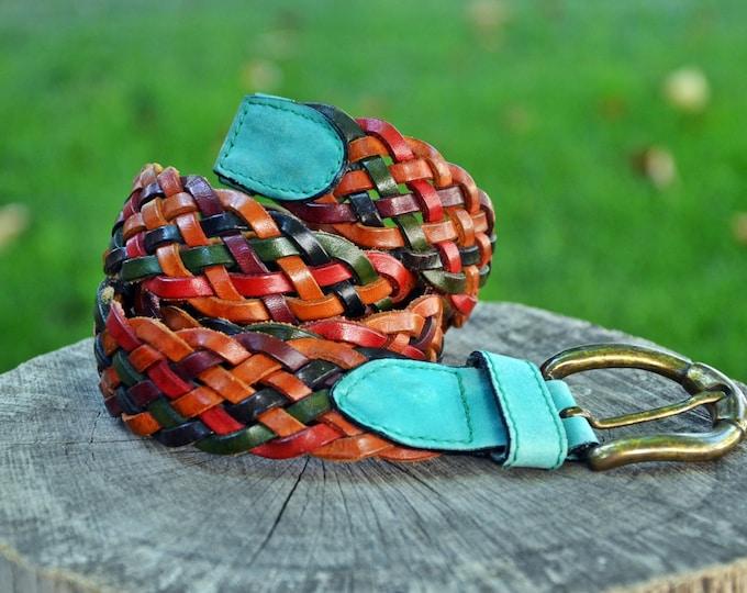 Vintage Women/'s Leather Belt Made in Italy Italian belt Beautiful Lady/'s Belt. Color Belt Genuine Leather Belt