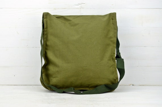 Canvas Bag Messenger Bag Unisex Military Haversack Army Canvas Bag Vintage Military Canvas Bag New Army Green Bag Tarpaulin Bag