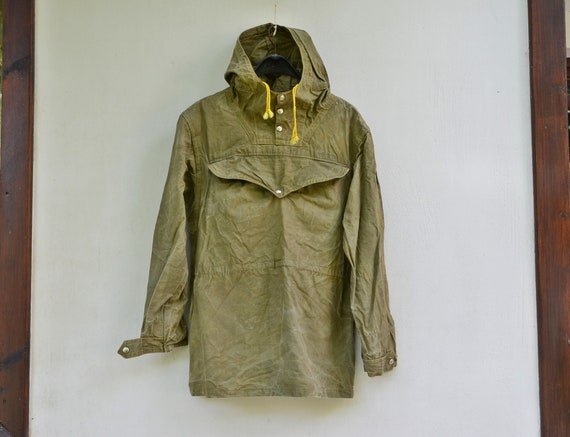 Military canvas anorak - Vintage canvas jacket - V