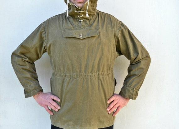 Military canvas anorak - Vintage canvas jacket - V