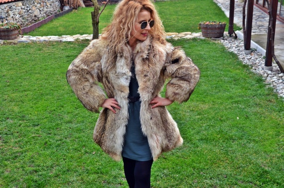 Vintage Fox Fur Coat, Vintage Fox Coat, Vintage Fo
