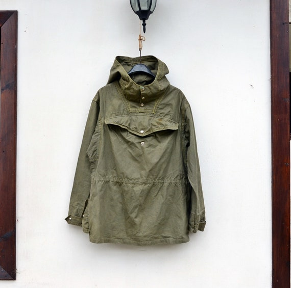 Military canvas anorak, Vintage canvas jacket, Vin