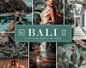 5 Moody Bali Mobile Lightroom Presets Mobile Christmas Wedding Instagram Dark Tropical Beach Summer Blogger Travel VSCO Jungle Nature